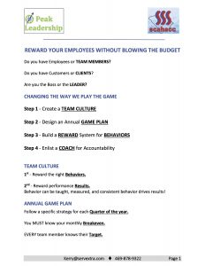 Handout MASTER - REWARD YOUR EMPLOYEES WITHOUT BLOWING THE BUDGET - Handout MASTER