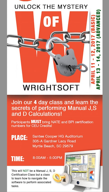 SCAHACC Wrightsoft Classes Promo
